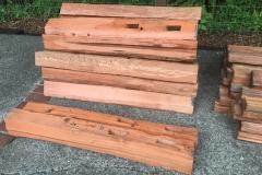 Salvaged Redwood split products