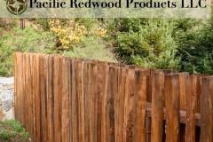 Redwood Grape Stake Fence