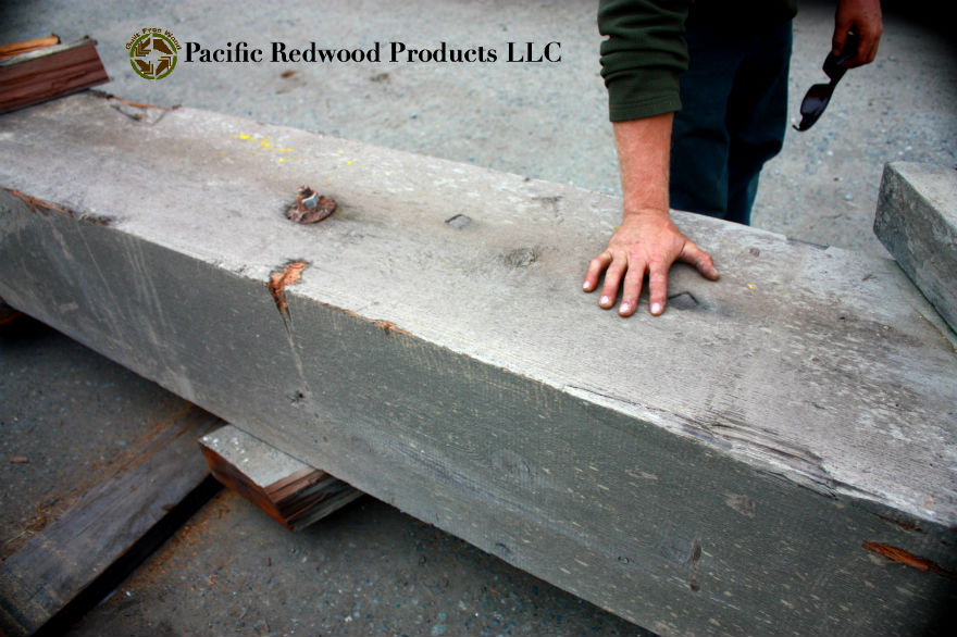 Reclaimed Redwood Timber from Historical Bridge-Pacific Redwood Products LLC