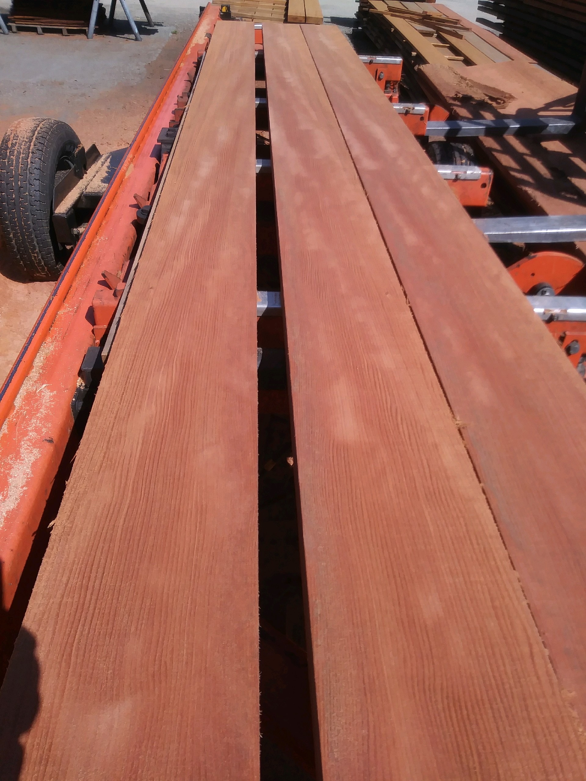 Old Growth Straight vertical grain salvaged redwood lumber