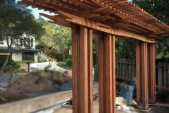 arbor made from Pacific Redwood lumber