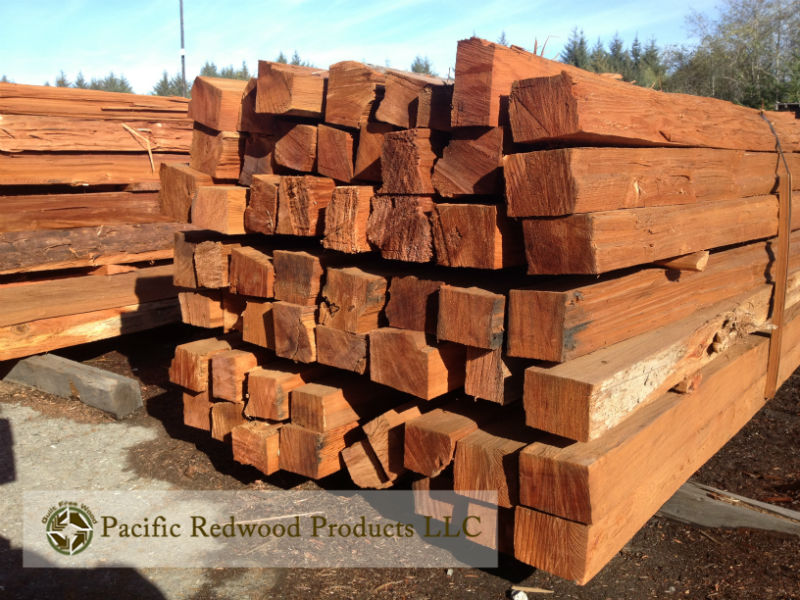 Old growth redwood eco-salvaged split posts are a gorgeous and traditional fence material.