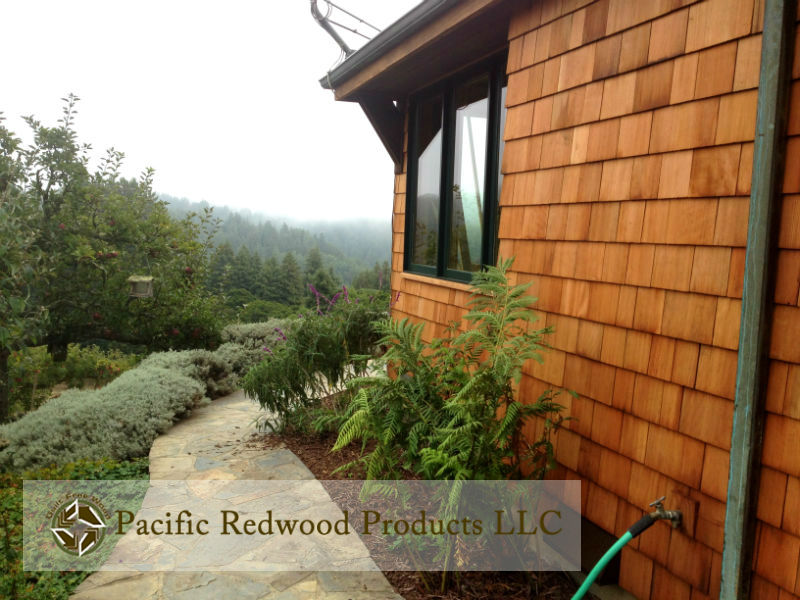 Old Growth Redwood Shingle Siding Home wwm