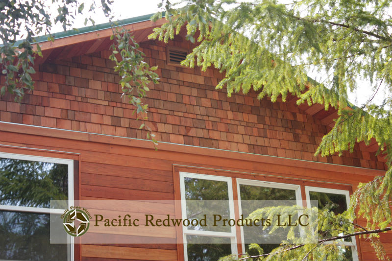 These are our #2 FiveX redwood shingles- More pattern and variation than #1s...beautiful!