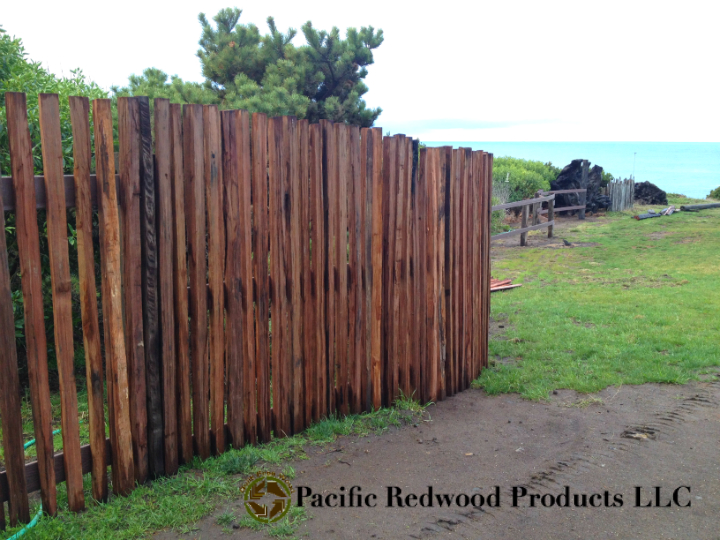 Grape stakes, redwood fence, redwood paling, redwood split railing, redwood posts