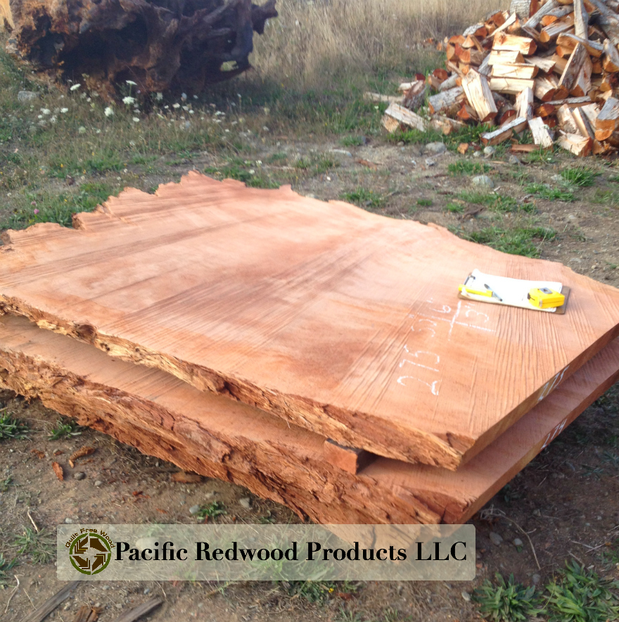 redwood slab, redwood lumber, redwood table